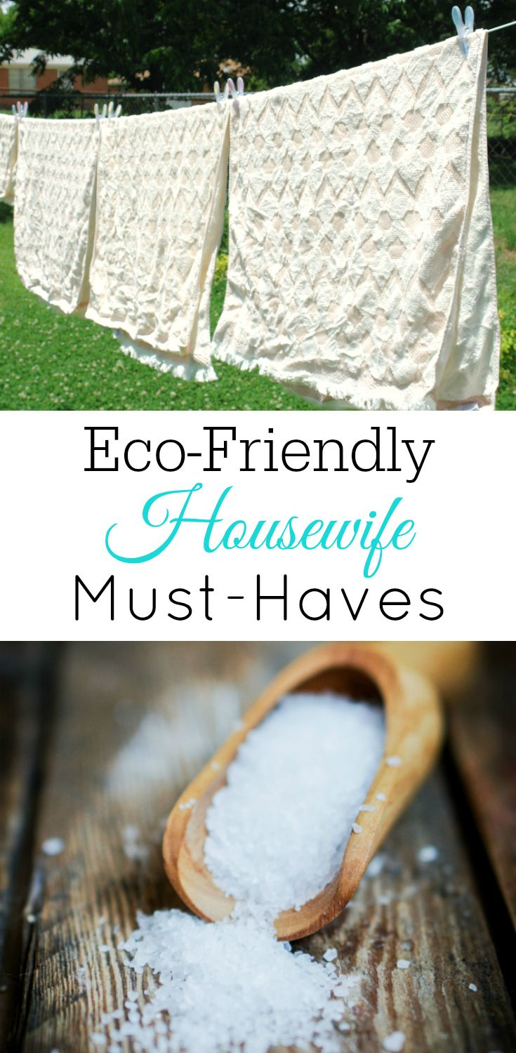 Trying be a more eco-friendly housewife? There are eco-friendly products you must-have around to make being a green housewife easier.