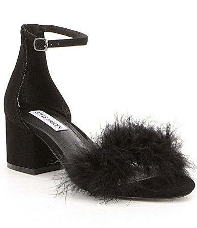 Steve Madden Imelda Ostrich Feather Detailed Dress Sandal #Dillards