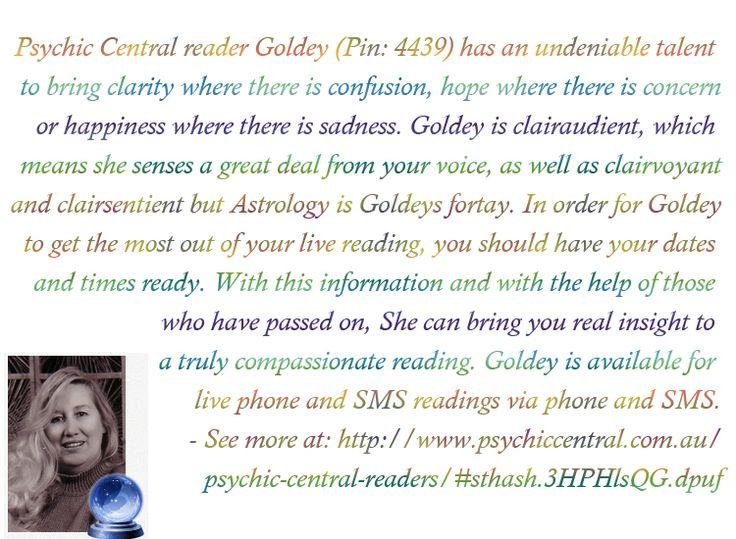 Psychic Central reader Goldey (Pin: 4439) http://www.psychiccentral.com.au/psychic-central-readers/#sthash.3HPHlsQG.dpuf