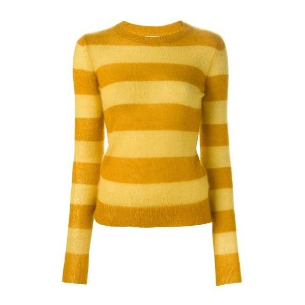 ISABEL MARANT ETOILE 'Gresham' Sweater (380 BRL) ❤ liked on Polyvore featuring tops, sweaters, yellow, long sleeves, shirts, yellow sweater, etoile isabel marant sweater, ribbed shirt, long sleeve tops and long sleeve sweaters