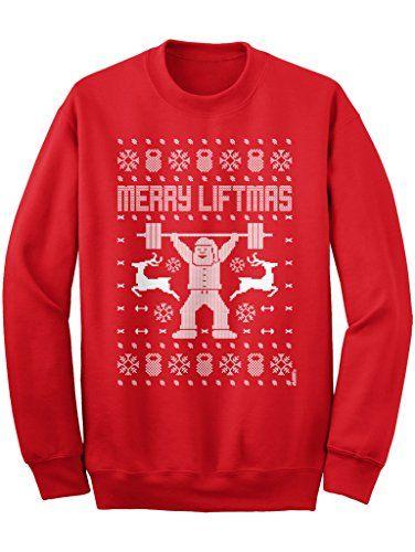 04906d562dc5 New LOGOPOP Merry Liftmas Unisex Adult Ugly Christmas Sweatshirt ...