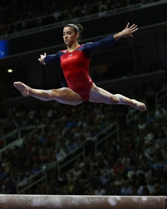 """U.S. Gymnast is Ready for London Olympics: Aly Raisman has performed her """"Hava Nagila"""" floor routine for about a year—and now she hopes it can help her take home the Gold. (Photo credit: Heather Maynez): Aly Raisman, Floor Routine, Jewish Life, Alexandra Raisman, Gymnastics Athletes, Exemplary Jewish, Heather Maynez, Women"""