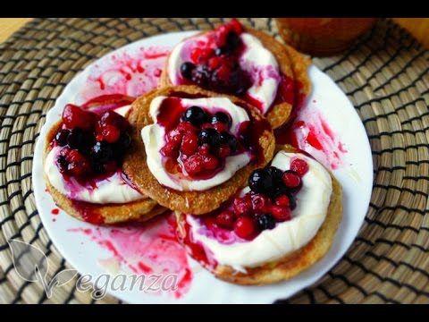 Katty Veganza - fitness snídaně - proteinové lívance - YouTube