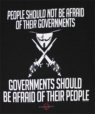 V For Vendetta Quotes People Should Not Be Afraid T