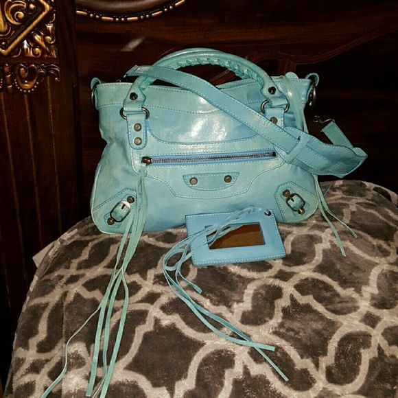 Balenciaga First  Bag Beautiful  authentic  bag. Is in great shape. Just too small for me. Trade value  higher Balenciaga Bags Satchels