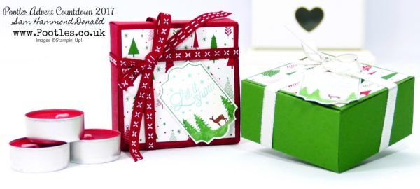 Pootles Advent Countdown #19 Ikea Candle No Glue Tuck & Fold Box Tutorial