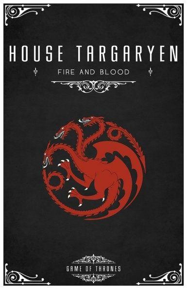 ... emblema casa Targaryen - Juego de Tronos en los siete reinos