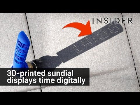 3D printed sundial displays the time digitally //