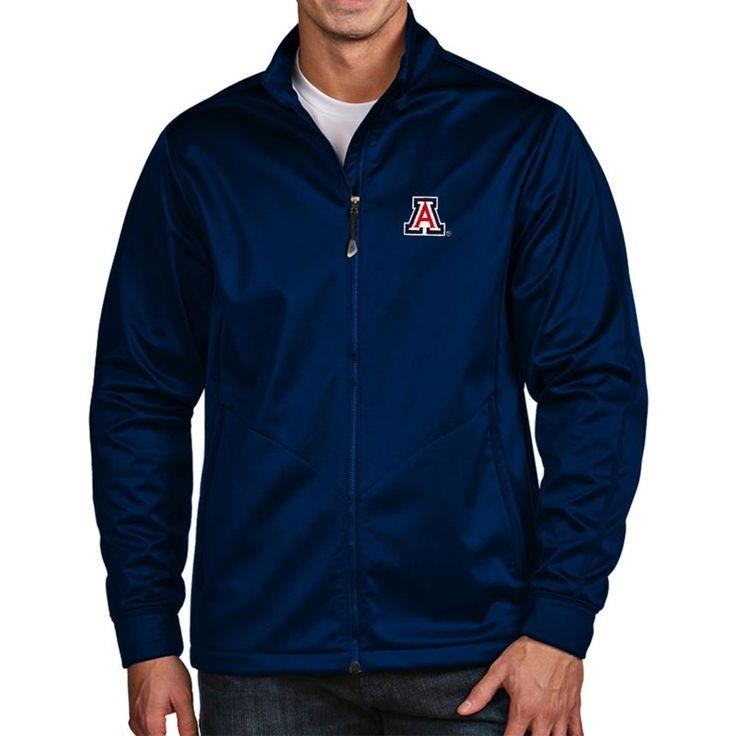 Antigua Men's Arizona Wildcats Navy Full-Zip Golf Jacket, Team