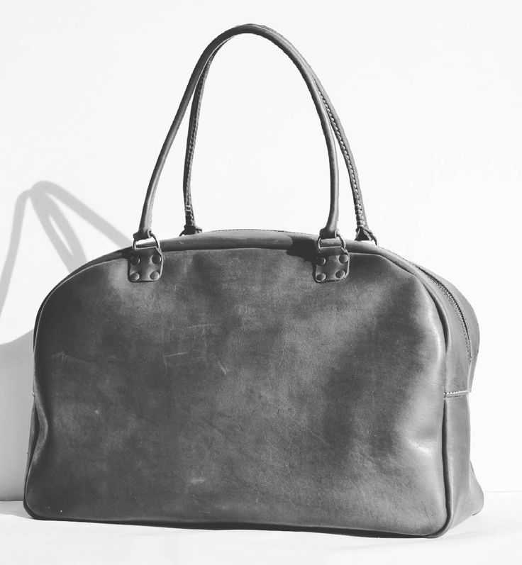 Large handmade leather bag. Moscow