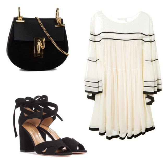 """Grecian"" by anmari29 on Polyvore featuring Chloé and Aquazzura"