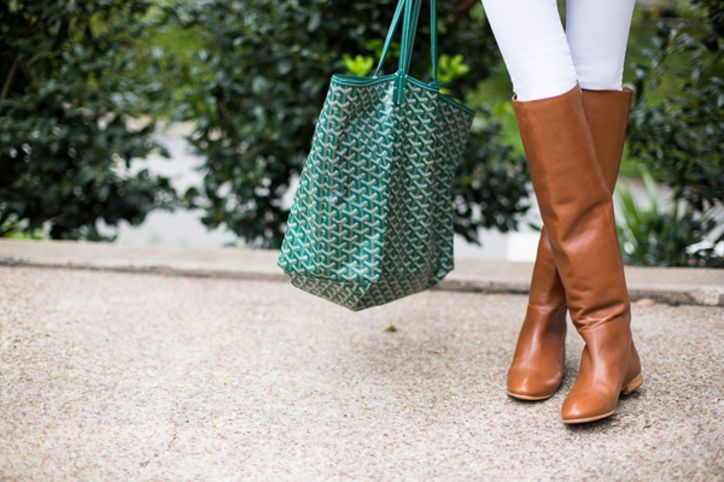 7 Super-Stylish Ways to Wear Your Knee-High Boots for Work and Weekend: Glamour.com #boots #fallfashion