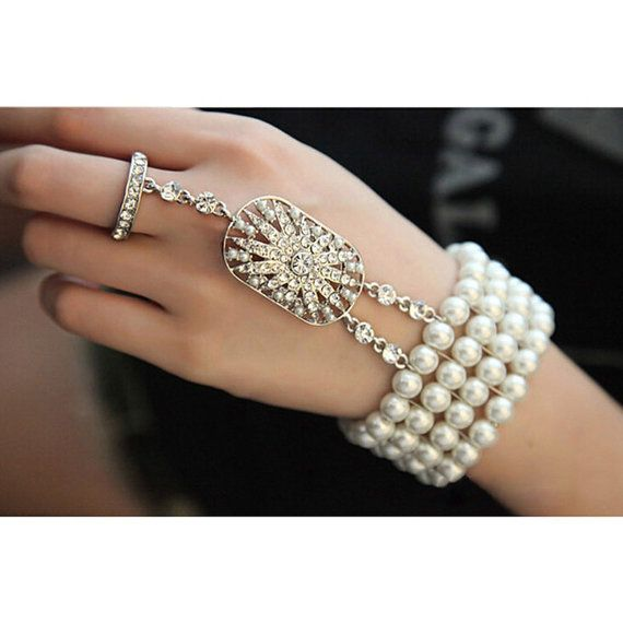 Great Gatsby bracelet 1920s flapper wedding bridal accessories vintage