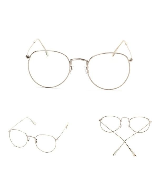 72977117508 Vintage Men Women Eyeglass Frame Glasses Round Spectacles Clear Lens Optical  - Silver - CZ17YH6WUSX in 2019