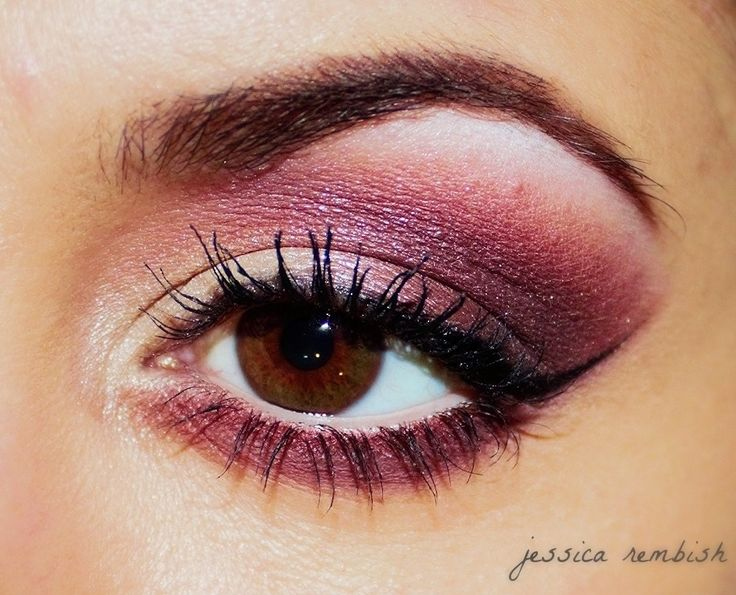 Beautiful plum inspired look by ohsojess using the Makeup Geek Bling, Burlesque, Last Dance, and Unexpected eyeshadows.