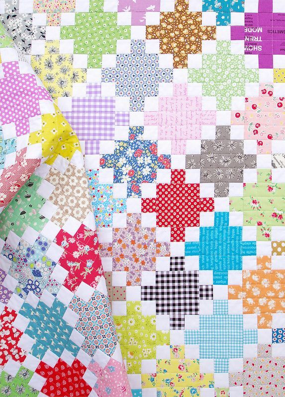 Single Irish Chain Scrap Quilt - |Red Pepper Quilts 2015