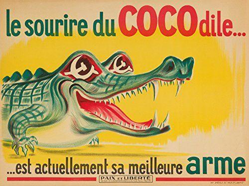 Le Sourire du Cocodile Vintage Poster France c 1950 24x36