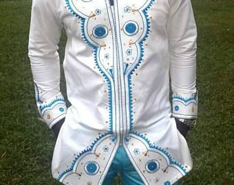 African Clothing, Men Shirt, Men Clothing, African Shirt, Embroidery, mens wear, Top and Down