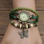 Vintage Style Watch with Butterfly ...