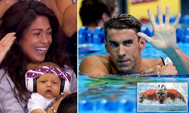 Michael Phelps qualifies for 2016 Rio Olympics as his fiancee Nicole and son Boomer watch | Daily Mail Online
