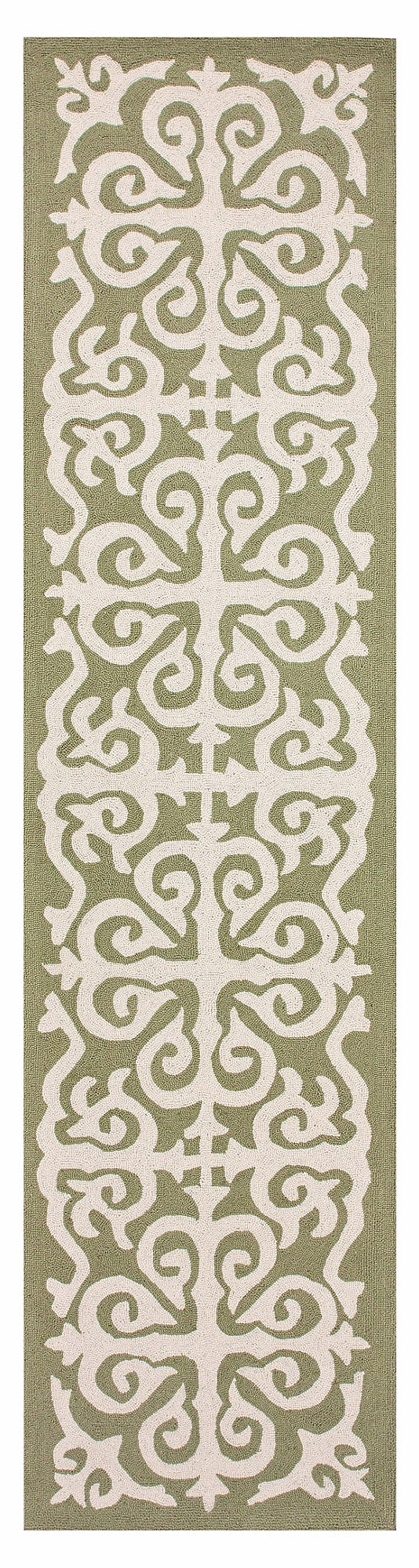 Scroll Trellis Runner, Green