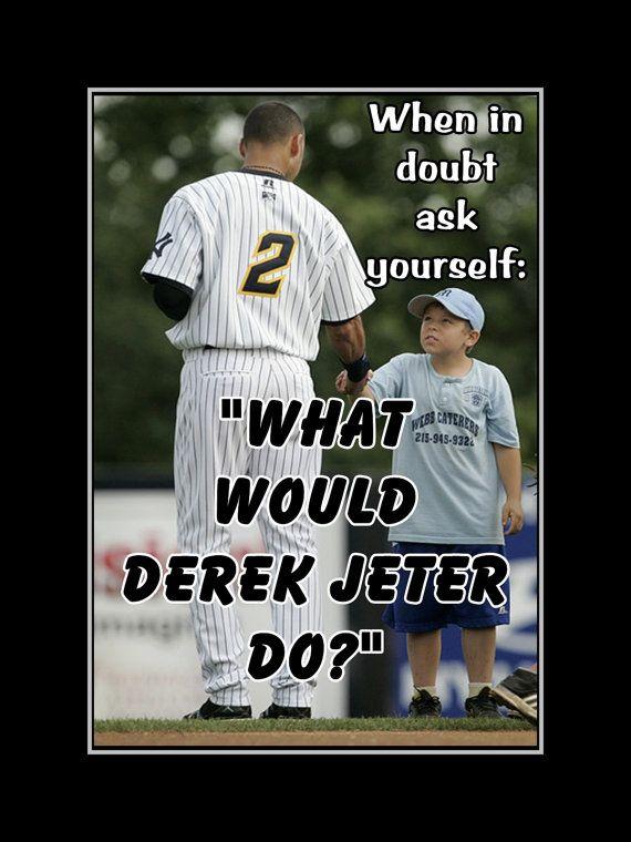 Derek Jeter Poster NY Yankees Fan Photo Quote by ArleyArtEmporium
