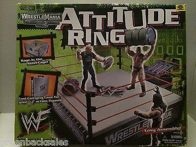 (TAS009070) - WWE WWF WCW nWo Wrestling Jakks Wrestle Mania Attitude Ring