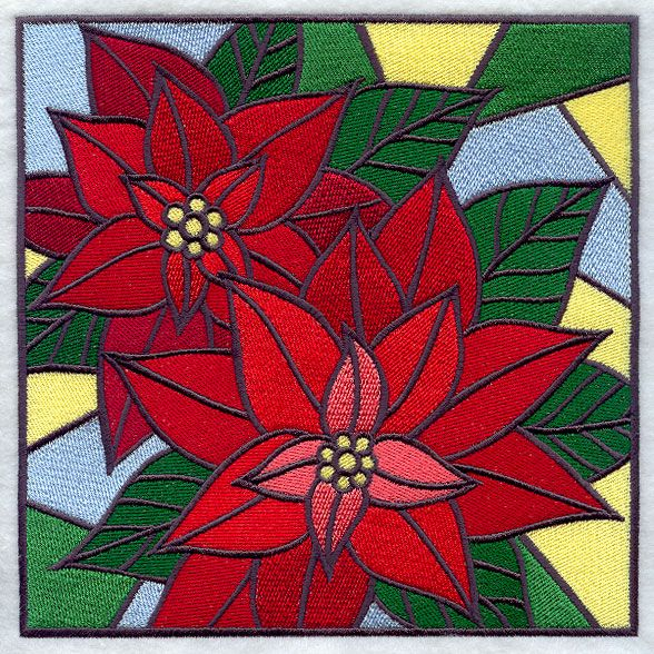 Stain Glass Christmas Patterns Stained Glass Poinsettia