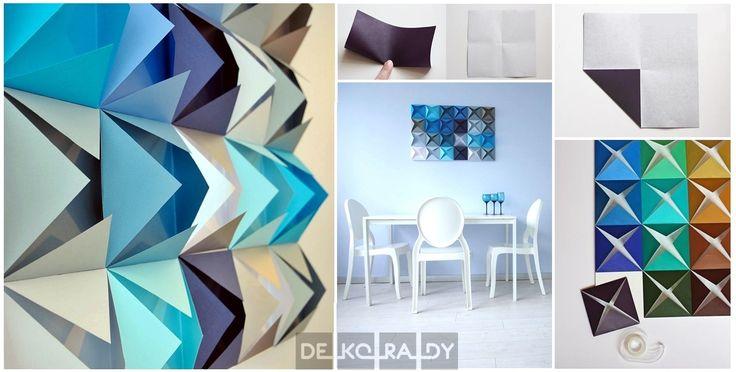 Pomysłowy obraz z kolorowego papieru  Zdjęcia: Handimania i Deko-rady.pl