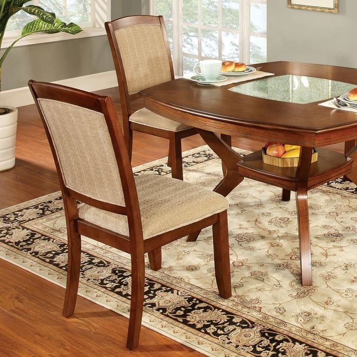 Furniture of America Torina Padded Fabric Dining