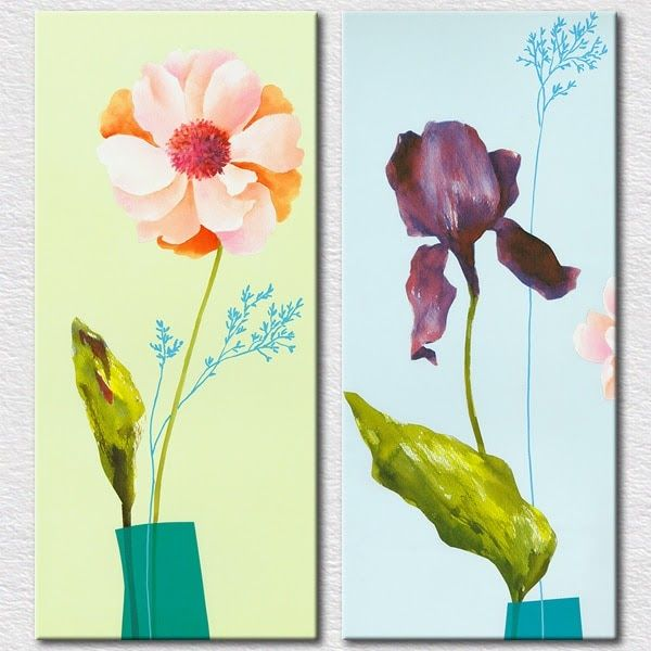 31 Lukisan Bunga Simple Di Kanvas Us 26 4 Best Seller Gambar Untuk Ruang Tamu Dekorasi 2 Pieces Dinding Art Bunga Seder Di 2020 Lukisan Bunga Lukisan Kanvas Lukisan