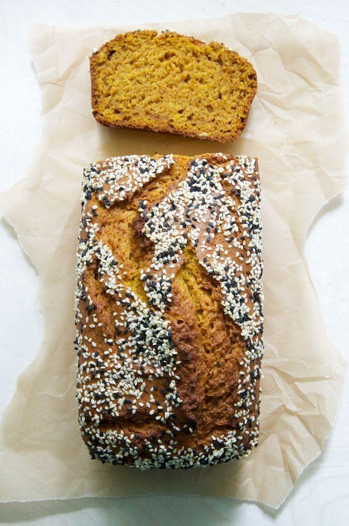 Pumpkin Tahini Bread Recipe // www.dulanotes.com @nicoledula