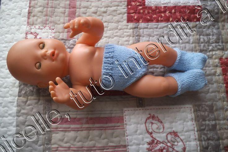 La poupée de Lara , pour Lucia avait besoin de sous vêtements , voici donc une petite culotte et des chaussons ; cette poupée , qui a déjà une belle garde robe (ICI) est un bébé famosa de 35 cm, son tour de taille est de 27 cm et ses pieds sont longs...