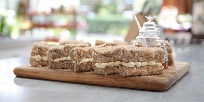 Try this Ginger and Honey Lamingtons  recipe by Chef Liesel.This recipe is from the show The Great Australian Bake Off.