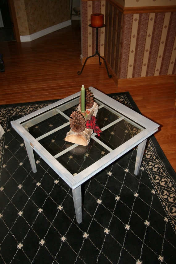 Window frame coffee table for the home pinterest for Other uses for a coffee table