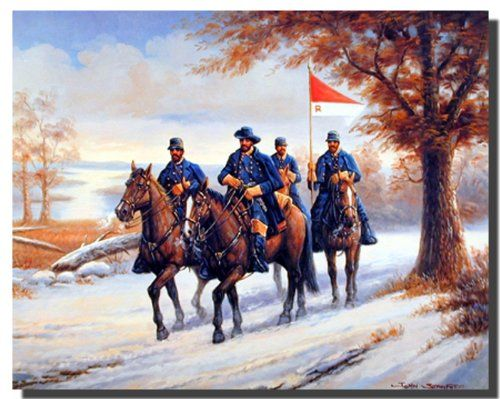 Bring classic art into your home or office with this civil war blue soldier on horses country western home decor art print poster. This poster can be put on your drawing room wall to showcase how you plan to take over the challenges that life throws at you. This civil war blue soldier on horse's country western wall decor art print poster will be a perfect gift for those who may be inspired by the western people. It would also makes for a fabulous gifting option for art lovers.