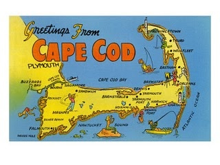 Map Of Cape Cod Postcard
