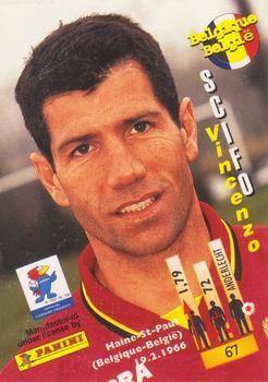 1998 Panini World Cup #67 Enzo Scifo Back