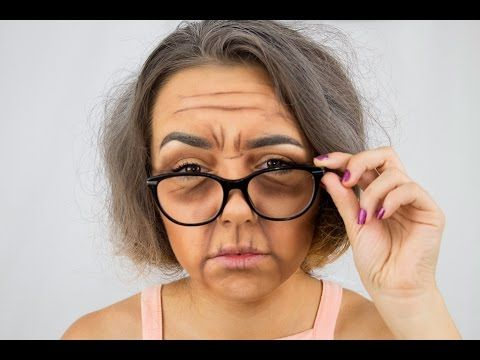 Old Lady Makeup Look - MINI TUTORIAL - YouTube