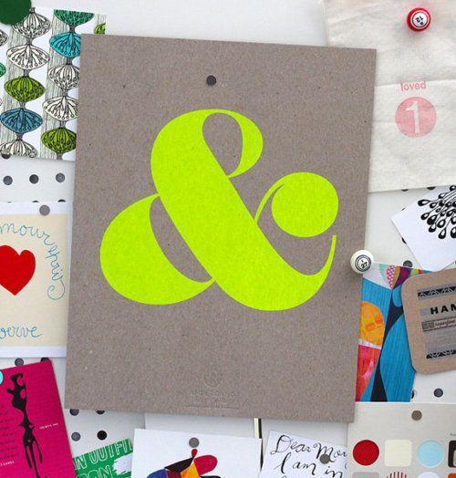 neon ampersand.: Kitchens Remodel, Screens Prints, Color, Neon Green, Graphics Design, Note Cards, Typography, Design Studios, Neon Yellow