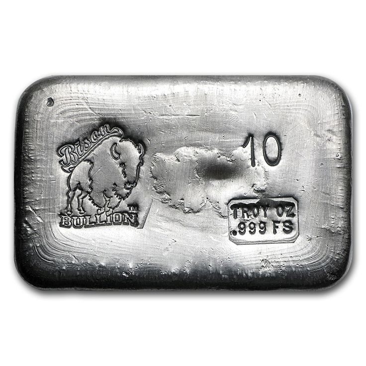 10 Oz Hand Poured Silver Bar Bb Silver Bar Apmex Gold Bullion Bars Silver Bars Buy Silver Bullion