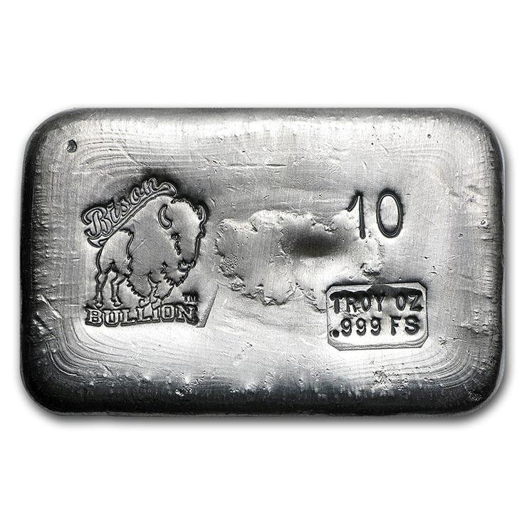 10 Oz Hand Poured Silver Bar Bb Silver Bar Apmex Gold Bullion Bars Silver Bars Buy Silver Bullion