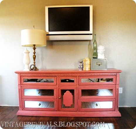 How to take a dresser from craigslist junk to a mirrored masterpiece!  Full tutorial!: Paintings Furniture, Projects, Idea, Mirror Furniture, Vintage Revival, Colors, Dressers Makeovers, Dressers Redo, Mirror Dressers