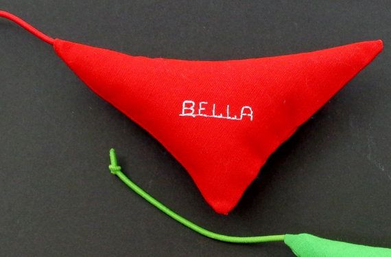 Personalized Cat Toy Custom Catnip Toy with Tail by PawPets