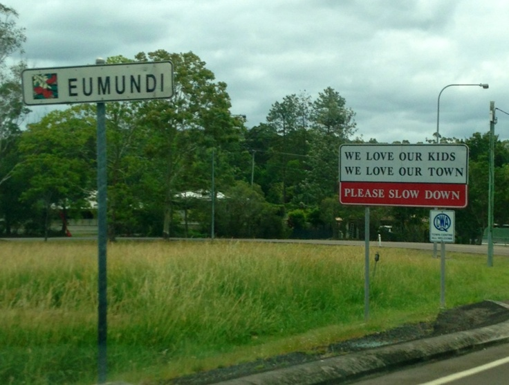 Entrance statement into Eumundi