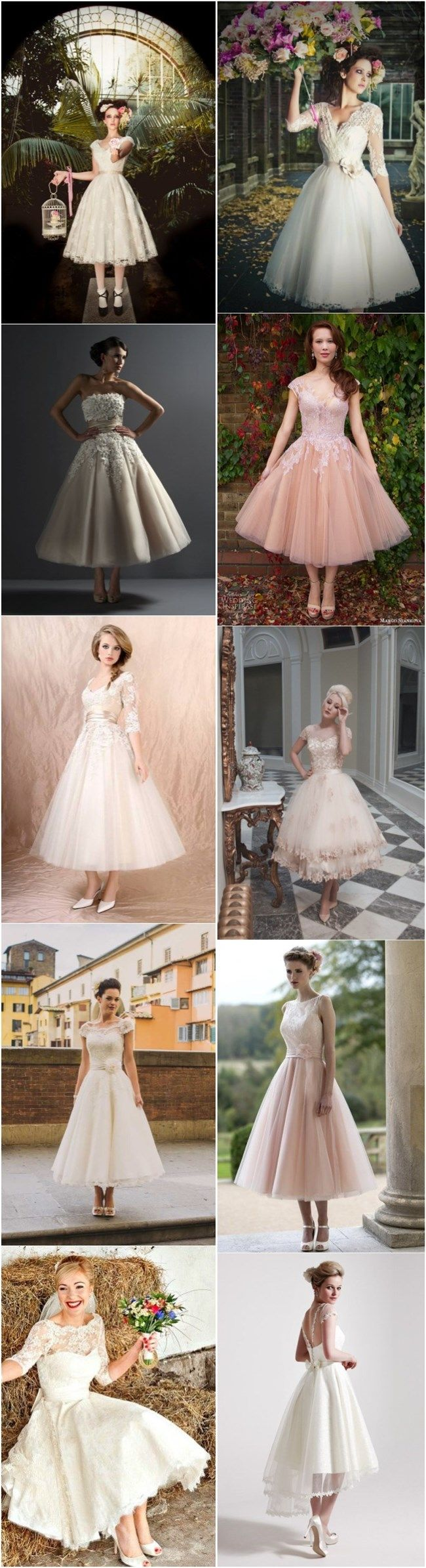 top 10 short tea length wedding dresses and bridal gowns