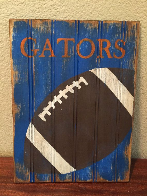 Florida Gators home decor by SouthernPineappleCH on Etsy