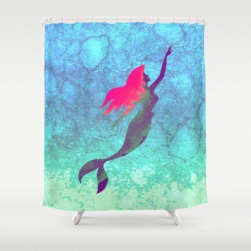 17 best ideas about mermaid shower curtain on pinterest mermaid bathroom decor mermaid - The little mermaid bathroom decor ...