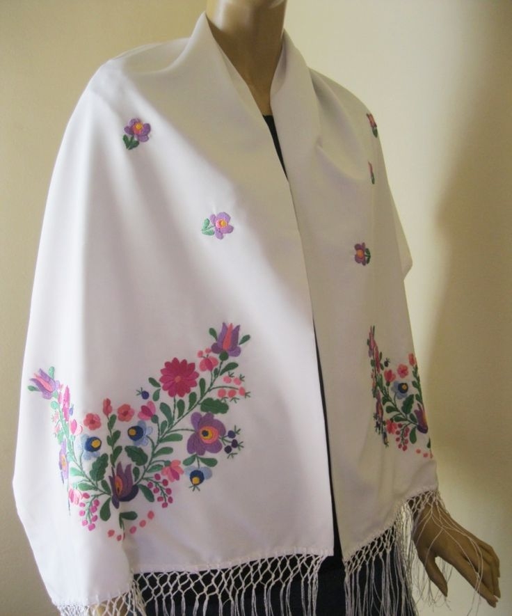 Hand embroidered Hungarian ivory, beige, Matyo, Kalocsa embroidery. At www.greatblouses.com