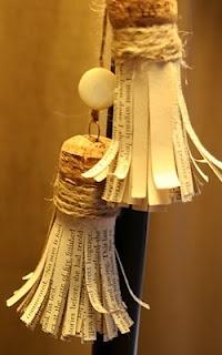 Cork & Paper Tassels